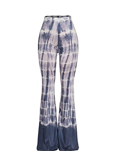 Sedrinuo Women's Bohemian Printed Bell Bottom Pants for Yoga Casual Wear Large for $<!--$15.90-->