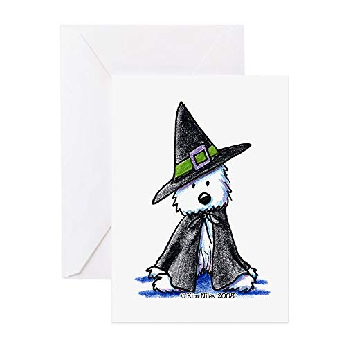 CafePress Witchy Westie Greeting Card, Note Card, Birthday