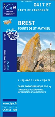 Livre gratuits en ligne Top25 0417ET - Brest carte de randonnée avec une règlegraduée gratuite (Top 25) pdf ebook