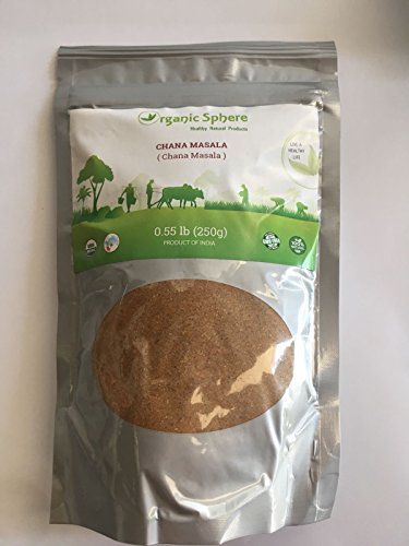 Chana Masala - USDA Certified Organic - EU Organic - Adulteration Free - Sodium Free - 250 Grams - Organic Sphere (Best Chana Masala Powder)