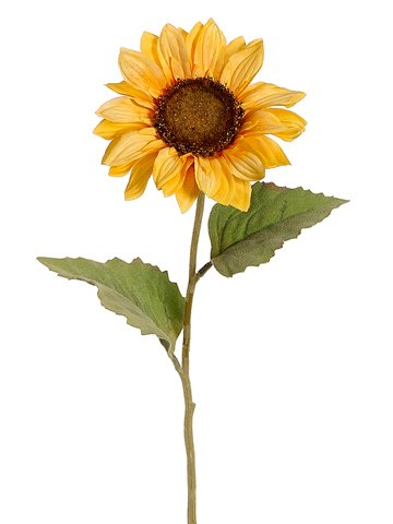 Silk Plants Direct Sunflower (Pack of 12) - Yellow