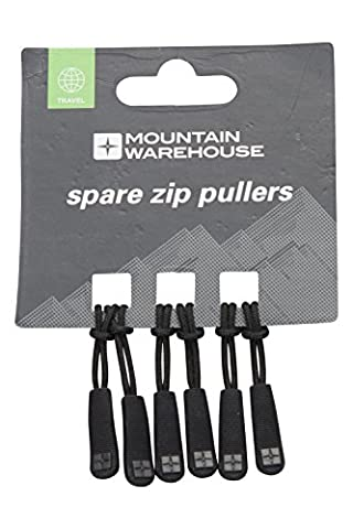 Mountain Warehouse Spare Zip Pullers - 6 PK - Lightweight,