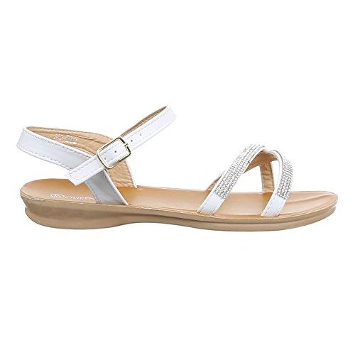 Ital-Design - Tira de tobillo Mujer blanco