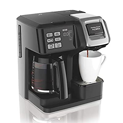 Hamilton Beach FlexBrew Coffee Maker, Single Serve & Full Pot, Compatible with K-Cup Pods or Grounds from Eight O Clock Coffee Company