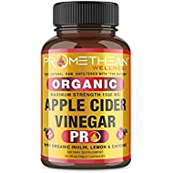 Organic Apple Cider Vinegar Capsules ACV PRO Diet Pills Detox Cleanse for Weight Loss Raw Unfiltered With Mother Powder Supplements Tablets Vitamins Cayenne Pepper Inulin Prebiotics Lemon 1500mg 90 ct