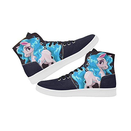 D-story Scarpe Personalizzate Grunge Usa Bandiera High Top Retro Donna Sneaker Multicoloured13