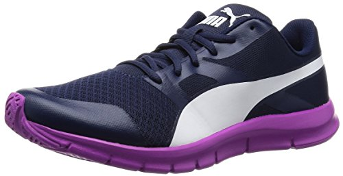 Puma Flexracer - Zapatillas Unisex adulto Azul - Blau (peacoat-white-purple cactus flower 05)