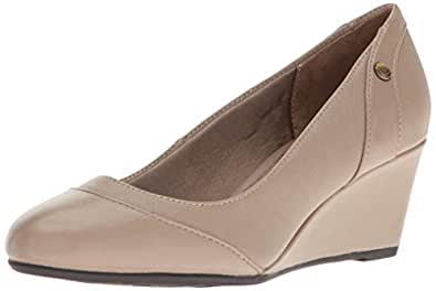 LifeStride Women's Dreams Wedge Pump, Stone, 5 M US