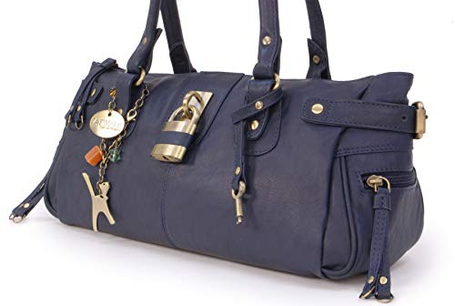 Bolso Catwalk Azul Cuero Con De Chancery Candado Mano Collection q1waSgp