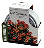 #10: Raindrip R255DT Drip Watering Tubing, White Poly.25-In. x 50-Ft.