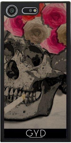 Funda Silicona para Sony Xperia XZ Premium - Cráneo Y Rosas by Blingiton