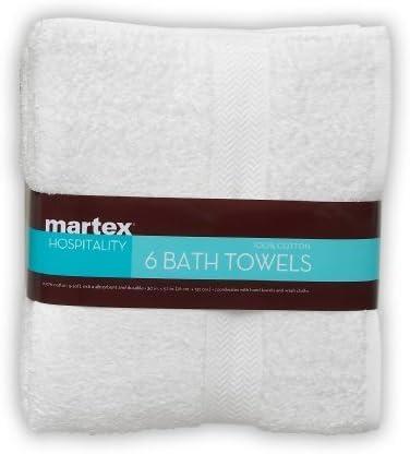 MARTEX Toallas de baño, Blanco, 6-Pack: Amazon.es: Hogar