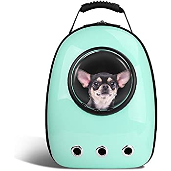 8c27e8ad7ce Blitzwolf Anzone Pet Portable Carrier Space Capsule Backpack, Pet Bubble  Traveler Knapsack Multiple Air Vents Waterproof Lightweight Handbag for Cats  Small ...