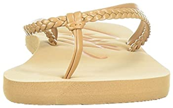 Roxy Women's Cabo Sandals Flip-flop, Tan, 7 M Us 3