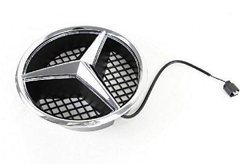 Smk wholesale car front grille led logo for mercedes benz for Mercedes benz front emblem