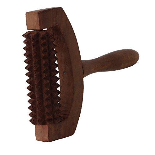 Crafts'man Wooden Roller cutter Hand/leg Massager for Body Stress Acupressure (Wooden Body Roller)
