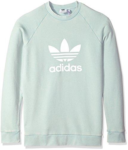 Adidas Sweatshirt (adidas Men's Originals Trefoil Warm-up Crew, Ash Green, M)