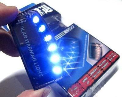FidgetFidget Alarm Warning Strobe 1PC 6LED Solar Blue Burglar Flash Light Anti-Theft Security