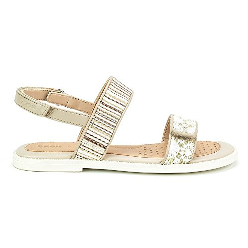 Geox Sandal Karly Girl - J8235J0AW8JC0716 - Color White-Beige - Size: 12.0 by Geox