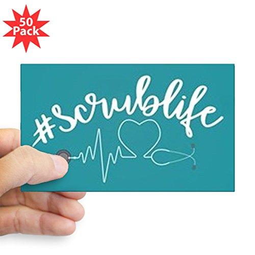 CafePress - Hashtag Scrublife - Sticker (Rectangle 50 pk) by CafePress