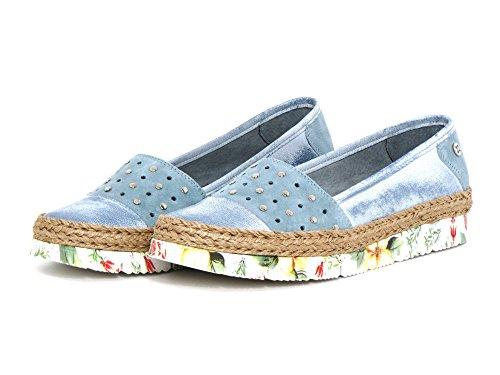 blau kombi Maciejka 2960a Azul kombi 5 Mujeres Blau 34 Zapatos Llanos 00 XqqBw7IF