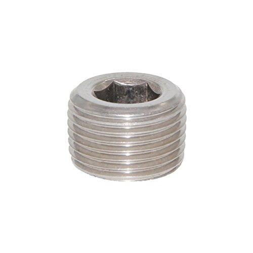 Npt Pipe Thread - Joyway 2Pcs Stainless Steel Internal Hex Countersunk Thread Socket Pipe Plug 3/8