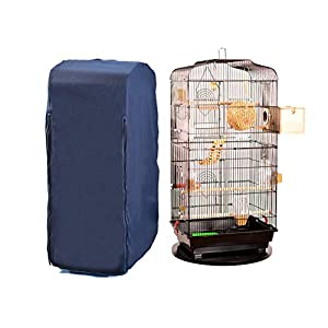 chengsan Large Reptiles Parrot Bird Cage Covers, 100% Cotton Good Night Birdcage Cover, Warm Shell Shield for Square Cage Crate