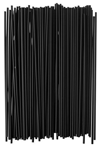 Crystalware Plastic Sip Stirrers 1000/box, Black 7-1/2 Inch - 2 Pack