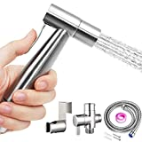 Hand Bidet Sprayer for Toilet Attachment-Stainless Steel Handheld Toilet Sprayer gun Kit