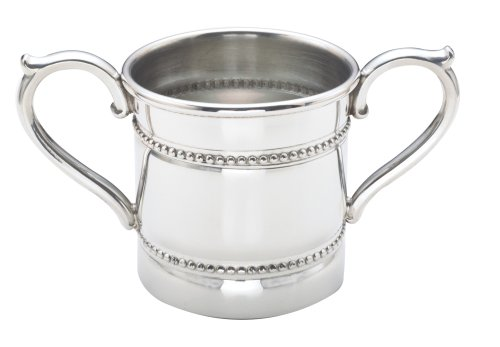 (Reed & Barton Baby Beads Pewter 5-Ounce Double Handled Baby)