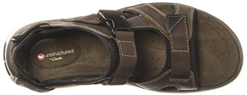 CLARKS Unstructured by Mens UnTrek Bar Casual Sandal Olive Nubuck pz9B9rTLi