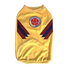 My Pet Boutique Dog Soccer Jersey Colombia (Medium)-The Russia World Cup 2018-T-shirt