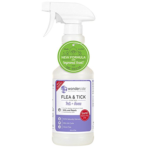Wondercide Flea Tick Mosquito Control Spray Cats Dogs Home - Rosemary - 16 oz