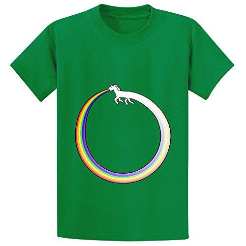 ouroboros-unicorn-rainbow-vomit-youth-crew-neck-personalized-t-shirts-green