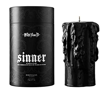 Saint Gothic Style Scented Candle Perfect for Your Home Kat Von D Pre-Dripped Pillar Candle Choose Your Fragrance Sinner or Saint! Vegan Candle Handmade by Luxury Candle Maker Biren /& Co.