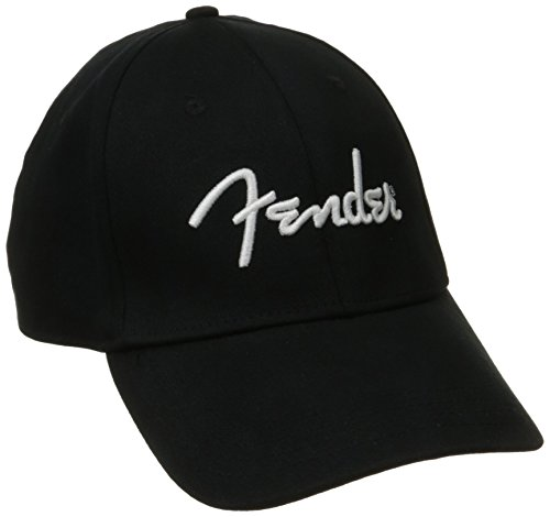 Fender® Logo Stretch Cap, Black, L/XL