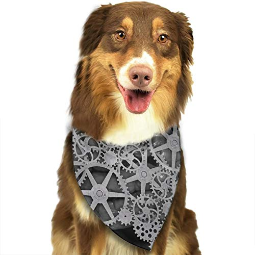 (WUGOU Dog Bandana Brain Engineer Word Cute Pet Pack Washable Triangle Bibs Scarfs Kerchief Set Accessories for Dogs and)