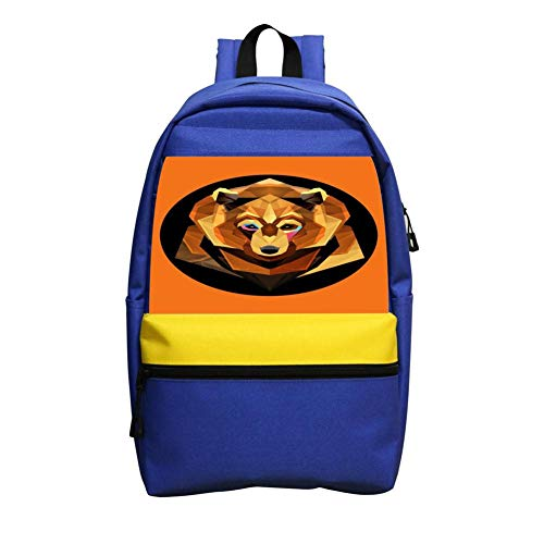 Price comparison product image Brown Bear Illustration Schoolbag Boys and Girls 1-6 Year Old Children Backpack Blue