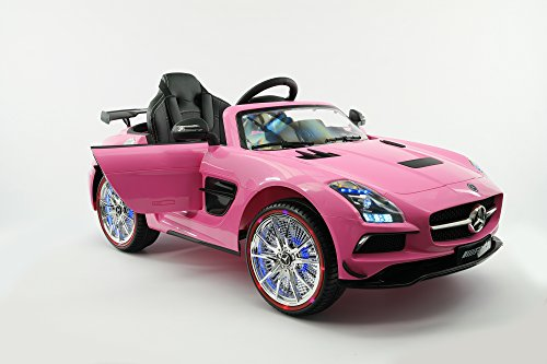 kids ride on toy electric car licensed mercedes sls amg 12v mp3 battery powered rc parental remote 5 point safety harness limited edition little kid