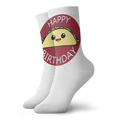 YUANSHAN Socks Happy Birthday Taco Women & Men Socks Soccer Sock Sport Tube Stockings Length 11.8Inch]()