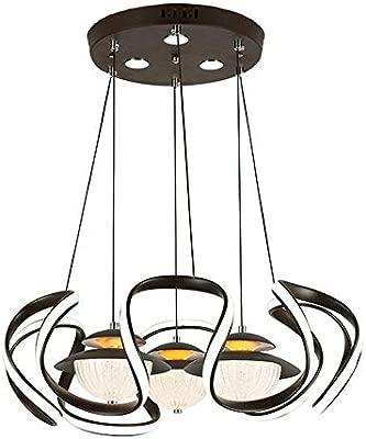 HuiKai 123W Luz de Techo Iluminación Pendiente Lámpara Colgante ...