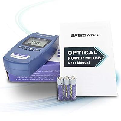 SPEEDWOLF Portable FTTH Fiber Optical Power Meter (-50dBm~+26dBm),Handlend Optic Fiber Cable Tester Tool with FC Adapter for CCTV CATV Engineering Maintenance