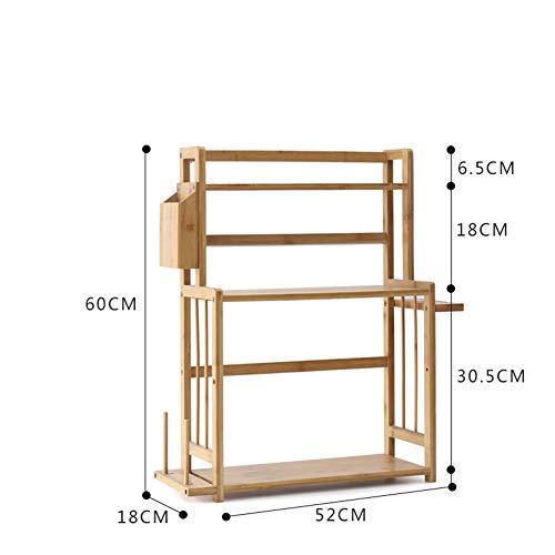 Kitchen Storage Shelf Racks Storage Basket Shelf Baskets Bamboo Household Spice Rack Kitchen Multifunction Tool Holder Multiple Choices ZHAOYONGLI (Size : 521860cm) by ZHAOYONGLI-shounajia (Image #2)