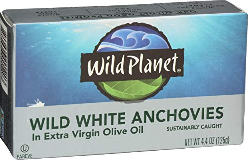 Wild Planet Wild Mackerel Fillets in Organic Extra Virgin Olive Oil (White Anchovies)