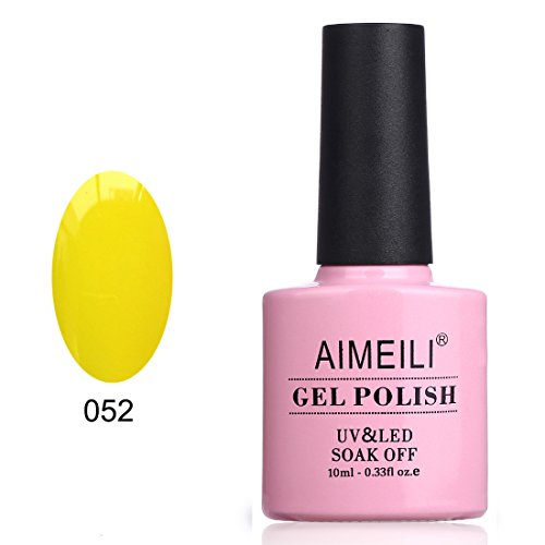 AIMEILI Soak Off UV LED Gel Nail Polish - Neon Canary Yellow