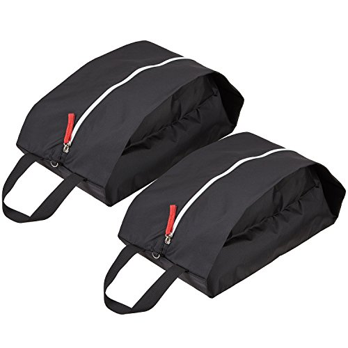 TRAVELTO Shoe Bag 2 PCS for Storage and Carrying - Perfect for Travelling - Waterproof, Light and Durable Nylon, Breathable, for All Kind of Shoes