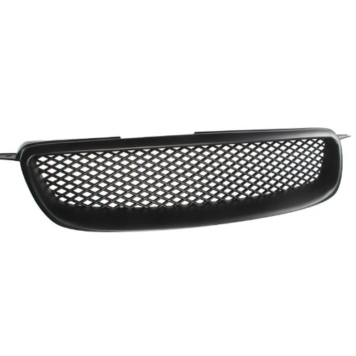 VioGi Fit: 03-08 Toyota Corolla CE/LE/S (Except XRS) 1pc Black Coated Finish ABS Plastic JDM Sport Mesh Style Badgeless Front Grille (2005 Toyota Corolla Front Grill compare prices)