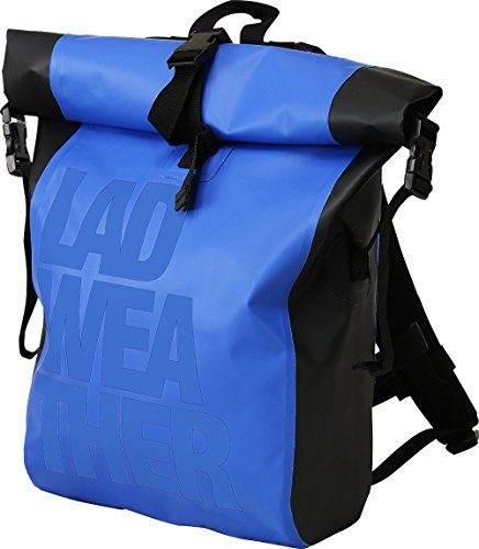 LAD WEATHER] Dry Bag Roll Top Backpack Waterproof Sport Cycling Leisure Kayak/Sailing Boating Marine (Blue & Blue)