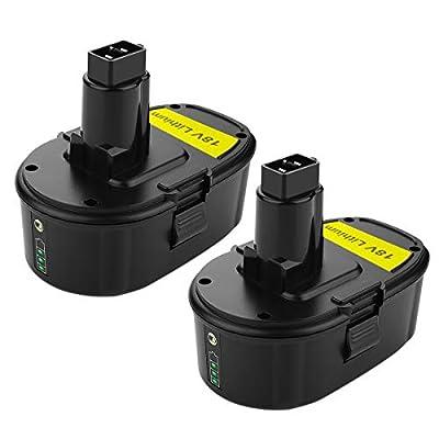 ANTRobut Lithium-ion 3000mAh DC9096 18V battery Replacement for Dewalt 18 volt XRP battery DC9096 DC9098 DC9099 DE9039 DE9095 DE9096 DE9098 DW9095 DW9096 Cordless Drill dewalt 18v Battery