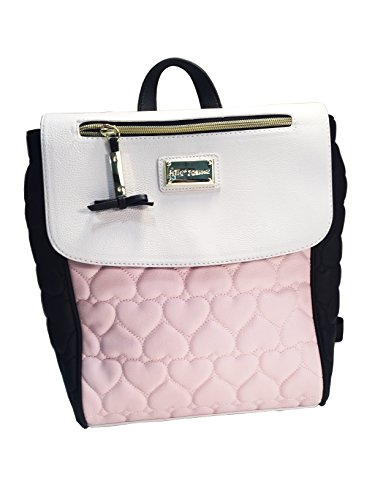 Betsey Johnson Be Mine Quilted Backpack Black